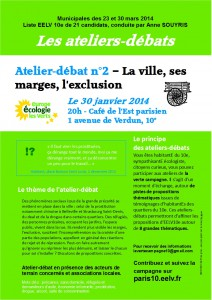 Atelier-débat n°2 - La ville, ses marges et l'exclusion - EELV10