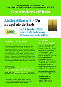 Atelier-débat n°5 EELV 10 - Un nouvel air de Paris